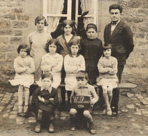 Photo école Williers 1934, instituteur GOUT